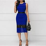 Trompete / Meerjungfrau Schmuck Tee-Länge Spitze Kleid mit Muster / Druck durch LAN TING Express