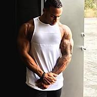 Kerek Vékony Férfi Atléta - Egyszínű Fehér M