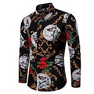Муж. Рубашка Геометрический принт Черный XXL