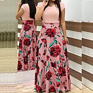 저렴한 -여성용 베이직 스윙 드레스 - 기하학, 패치 워크 맥시