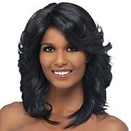 วิกผมสังเคราะห์ / ผมม้า ความหงิก / Spiral Curl สไตล์ ส่วนด้านข้าง ไม่มีฝาครอบ ผมปลอม ดำ สีดำและสีทอง สังเคราะห์ 18 inch สำหรับผู้หญิง คลาสสิก / ผู้หญิง / ส่วนด้านข้าง ดำ วิก ขนาดกลาง วิกธรรมชาติ