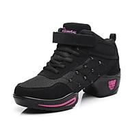 Žene Plesne tenisice Sintetika Tenisice Debela peta Moguće personalizirati Plesne cipele Crn / Crno / crvena