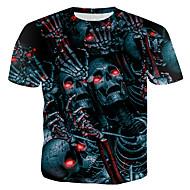 Majica s rukavima Muškarci 3D / Lubanje Okrugli izrez Slim Duga XL