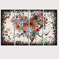 Print พิมพ์ผ้าใบรีด - ภูมิประเทศ ความรักและเรื่องของหัวใจ คลาสสิก ที่ทันสมัย สี่ภาพ ศิลปะภาพพิมพ์