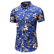 פרחוני חולצה - בגדי ריקוד גברים דפוס פול XXXXL