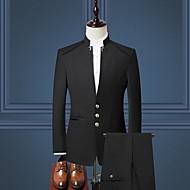 Hombre trajes, Un Color Escote en Pico Poliéster Negro / Azul Marino / Wine XXL / XXXL / XXXXL