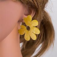 Dames Veelkleurig meetkundig Druppel oorbellen oorbellen Europees Sieraden Wit / Geel Voor Dagelijks 1 paar