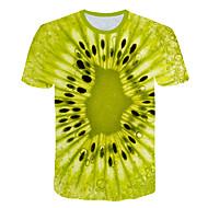 Herrn Einfarbig / 3D / Frucht - Street Schick / Übertrieben Klub / Strand Übergrössen T-shirt, Rundhalsausschnitt Druck Hellgrün XXXXL / Kurzarm
