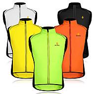 WOSAWE สำหรับผู้ชาย เสื้อไม่มีแขน Cycling Vest ส้ม สีเขียว สีดำ+สีเหลือง จักรยาน เสื้อกั๊ก กันลม ระบายอากาศ แถบสะท้อนแสง กระเป๋าหลัง กีฬา ตารางไขว้ ลายต่อ ขี่จักรยานปีนเขา Road Cycling เสื้อผ้าถัก