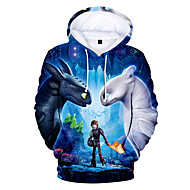 cheap -Kids Toddler Boys' Basic Print Print Long Sleeve Hoodie & Sweatshirt Blue