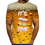economico -T-shirt Per uomo Essenziale Liscio Rotonda Giallo / Manica corta