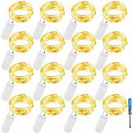 povoljno -2m Žice sa svjetlima 20 LED diode SMD 0603 Toplo bijelo / Bijela / Plavo Vodootporno / Party / Ukrasno Baterije su pogonjene 12pcs