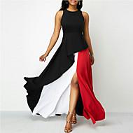 Women's Sheath Dress - Color Block Black XXXL XXXXL XXXXXL