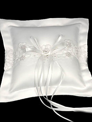 cheap -Faux Pearl Satin Rayon Ring Pillow Garden Theme Winter Spring Summer Fall
