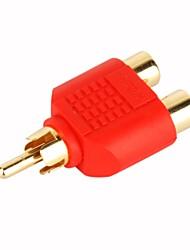 Cabo composto RCA fêmea 2-1 plug conversor do sexo masculino (smqc047)