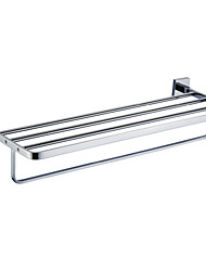 cheap -Towel Bar Cool Contemporary Brass 1pc - Bathroom / Hotel bath Double / 4-towel bar Wall Mounted
