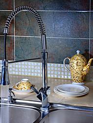 ราคาถูก -ก๊อกน้ำห้องครัว - ดาดฟ้าโครเมี่ยมหนึ่งหลุมติดตั้งร่วมสมัย / จัดการเดียวหนึ่งหลุม