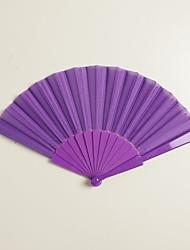 Soie Ventilateurs et parasols-# Pièce / Set Eventail Thème de jardin Thème classique Lilas 42cmx23cmx1cm 2.4cmx23cmx1cm