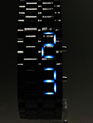 cheap -Men's Watch Faceless Watch Blue LED Lava Style Digital Plastic Band  Wrist Watch Cool Watch Unique Watch Fashion Watch