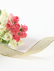 Gorgeous Wedding Ribbons 5/8-Inch Metallic Golden Ribbon Wedding Favors