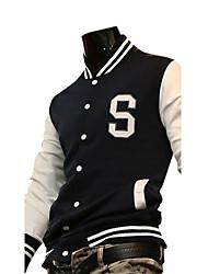 abordables -2011 Bouton de mode la veste pour hommes avec motif blanc à manches longues grande s