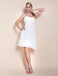 A-Line Princess Strapless Sweetheart Knee Length Chiffon Graduation Dress withBeading Flower by TS Couture®