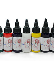 cheap -Compass Tattoo Ink 7 x 30 ml Professional - Red / Black / Blue