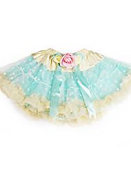 A-line princezna koleno délka květina dívka šaty - tyle charmeuse bez rukávů s volánky