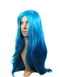 cheap -Synthetic Hair Wigs Curly Carnival Wig Halloween Wig Blue Party