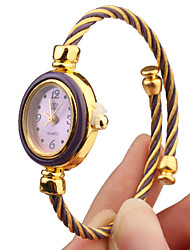 cheap -Quartz Watch with Metal Rope Watch Strap - Purple Face Cool Watches Unique Watches