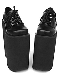 Lolita Shoes Punk Lolita Lolita High Heel Shoes Solid 22 CM For PU Leather/Polyurethane Leather
