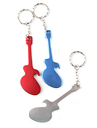 Guitar Shaped Bottle Opener Keychain (Random Color) Barware Decoration