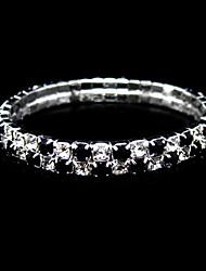 tênis das senhoras duas camadas pretas e claras 'casamento de strass em liga de prata