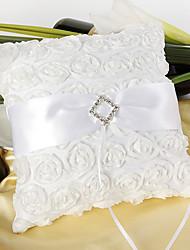 preiswerte -Rosenringkissen mit weißer Schärpe das Hochzeitsladen-Hochzeitsthema
