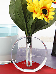 Table Centerpieces Personalized Crystal Round Vase  Table Deocrations