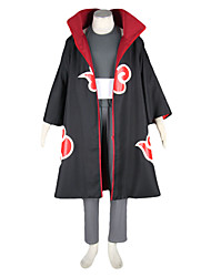 cheap -Inspired by Naruto Kakuzu Anime Cosplay Costumes Cosplay Suits Color Block Long Sleeves Vest Pants Headpiece Belt Cloak Mask For Men's