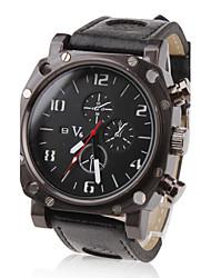 baratos -V6 Homens Relógio Militar / Relógio de Pulso Venda imperdível PU Banda Amuleto Preta / Dois anos / Mitsubishi LR626