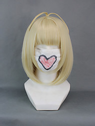 Cosplay Wigs Blue Exorcist Shiemi Moriyama Golden Short Anime Cosplay Wigs 40 CM Heat Resistant Fiber Female