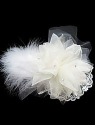 cheap -Gorgeous Tulle/ Feather With Rhinestone Wedding Bridal Flowers/ Headpiece