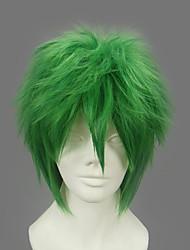 Parrucche Cosplay Naruto Zetsu Verde Corto Anime Parrucche Cosplay 32 CM Tessuno resistente a calore Uomo