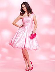 Una principessa a-line una spalla abito da sposa taffetà di lunghezza al ginocchio da ts couture®