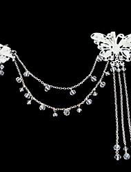 Недорогие -акриловый сплав цветы головной убор свадебная вечеринка элегантный женственный стиль