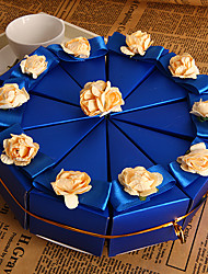 Blue Cake Favor Boxes (Set of 10)