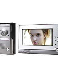 cheap -7 Inch Color Video Door Phone System with  Alloy Weatherproof Cover Camera