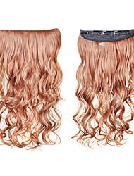 preiswerte -Echthaar Haarverlängerungen Locken Wellen Klassisch Synthetische Haare 20 Zoll Lang Haar-Verlängerung Alltag