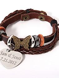 povoljno -Muškarci Žene Uniseks Jewelry Personalized Koža Legura Jewelry Party Special Occasion godišnjica Rođendan Dar Dnevno Nakit odjeće
