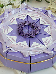 cheap -Pyramid Pearl Paper Favor Holder With Flowers Ribbons Favor Boxes-10