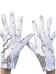 Nylon Wrist Length Glove Party/ Evening Gloves With Sequins Elegant Style