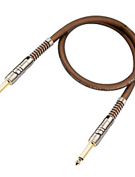 Недорогие -мягкий, гибкий, малое затухание, микро-пузырьков гитарный кабель в 6 метров