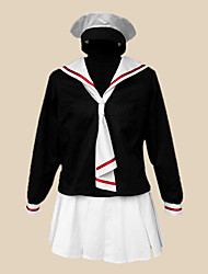 cheap -Inspired by Cardcaptor Sakura Tomoyo Daidouji Anime Cosplay Costumes Cosplay Suits / School Uniforms Patchwork Long Sleeve Cravat / Skirt / T-shirt For Women's Halloween Costumes